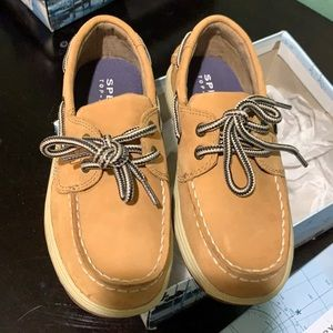 Tan Suede Sperry Loafers